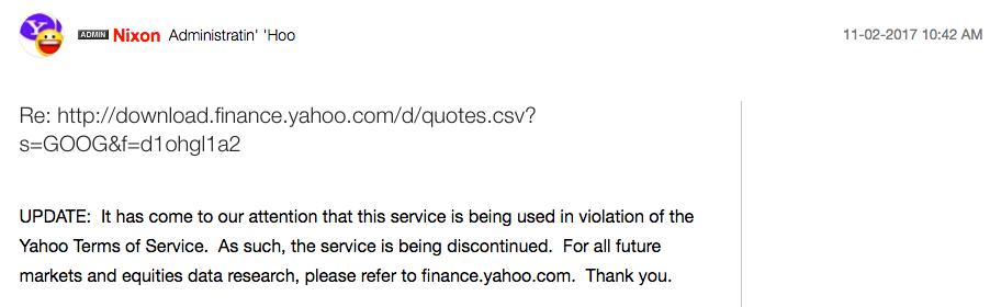 Yahoo finance API discontinued and now ?… | meumobi Dev Blog